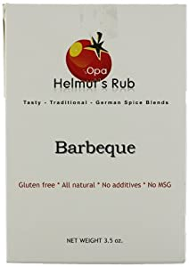 Opa Helmut's Rub German Spice Blends, Barbeque, 3.5 Ounce