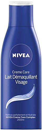 NIVEA Lait Démaquillant Visage Crème Care 200 ml - Lot de 3
