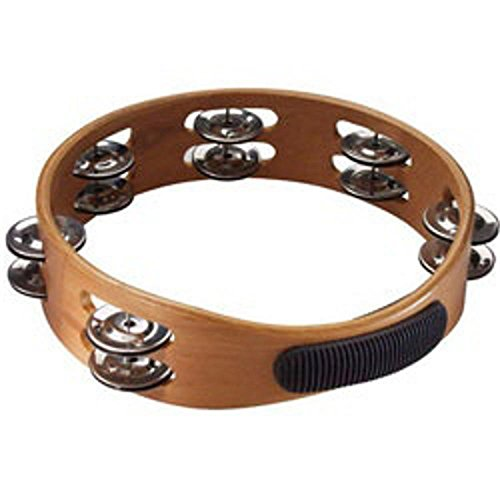 "Stagg 8"" Headless Wooden Tambourine - 2 Jingle Rows - 6"