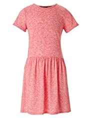 Flecked Skater Dress with Linen