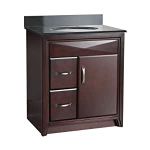 Foremost cala3021dl cavett 30 inch bath vanity with left - Bathroom vanity with drawers on left ...