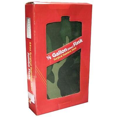 Maxam KTFLK64C Jumbo Stainless Steel Flask Camo Wrap, 64 oz