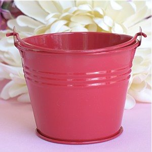 Red Mini Tin Pail Favors - Pack Of 50 front-48633
