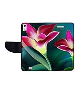 KolorEdge Printed Flip Cover For Gionee Elife S5.5 -Multicolor (50KeMLogo11053GioneeS5.5)