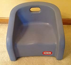Little Tikes Blue Child Size Booster High Back Chair Kitchen Dining