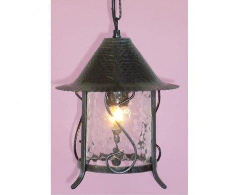 Plafoniera Ferro Battuto Nero : Fergie rossa: lampada lanterna applique plafoniera cilindro a catena