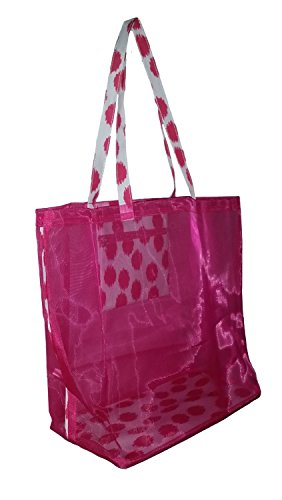 Fashion Mesh Bag Tote - Great for the Beach or Stadium Events