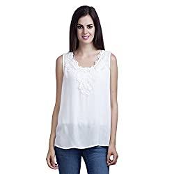 MansiCollections Causal Women's White Top (X-Large)