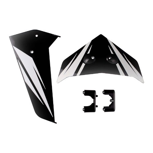 Syma Tail Fin Set for Syma S33 3 Channel Heli, Black