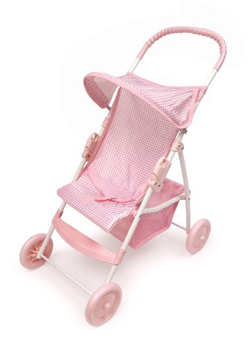 Badger Basket Folding Doll Umbrella Stroller - Pink/White Amazon.com