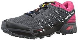 Salomon Women\'s Speedcross Vario W Trail Running Shoe, Black/Hot Pink/Dark Cloud, 9 B US
