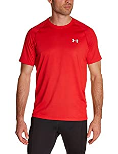 Under Armour Tech T-Shirt manches courtes Homme Rouge FR : L (Taille Fabricant : LG)