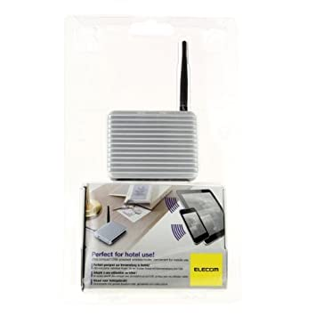 Elecom MINI LAN - Router (mobile, 10, 100 Mbit/s, 802.11b, 802.11g, 802.11n, Inalámbrico, IEEE 802.11b, IEEE 802.11g, IEEE 802.11n, AC, Negro, Acero inoxidable)