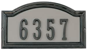 The Hillman Group 843253 Die Cast Address Plaque for 4-Inch Adhesive House Numbers, Aged Bronze