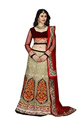 Black Net And Silk Lehenga Choli