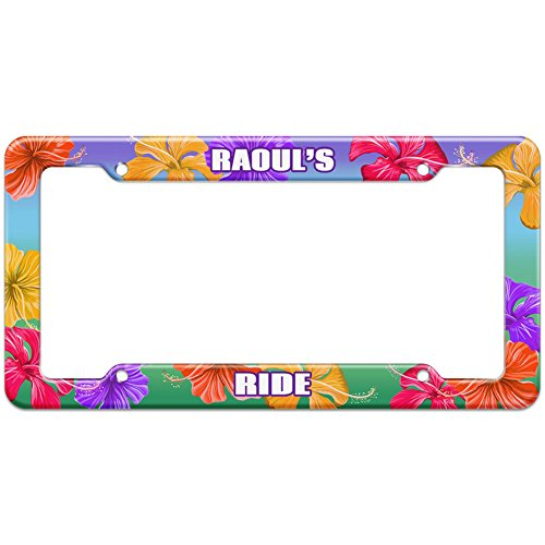 tropical-hibiscus-license-plate-frame-ride-names-male-ra-re-raoul