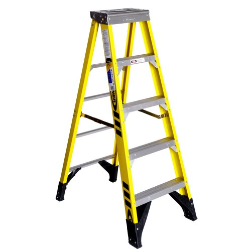 Werner 7305 375-Pound Duty Rating Type IAA Fiberglass Stepladder, 5-Foot