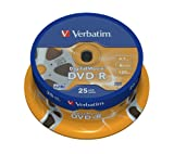 Verbatim Digital Movie Pack of 25 DVD-R Discs 16x 4.7 GB