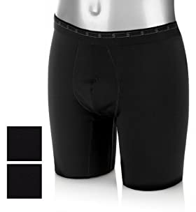 2 Pack - Base Layer Sports Trunks With Stretch