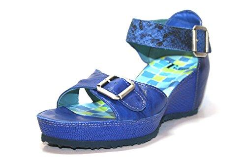 Think!, Sandali donna blu Blau 21.5, blu (Blau (kobalt/kombi 77)), 40 EU