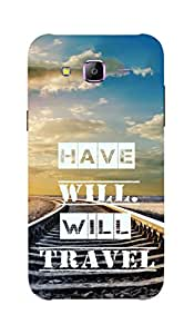 Back Cover for Samsung Galaxy J3 HAVE WILL WILL TRAVEL