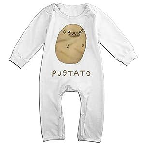 SUPMOON Potato Baby Fashion Jumpsuit Romper Climbing Clothes White