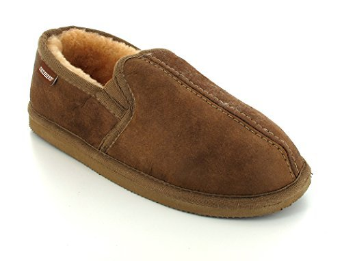 Shepherd, Pantofole uomo Marrone Antique Cognac