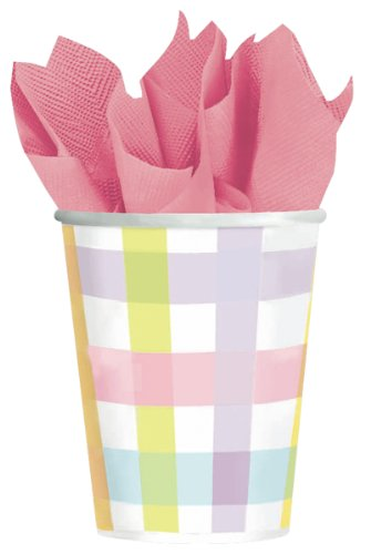 Amscan Colorful Gingham 9 oz. Cups - 8 ct