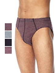 4 Pack Cool & Fresh™ Pure Cotton Striped Slips with StayNEW™