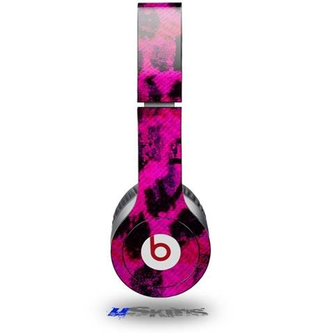 Pink Distressed Leopard Decal Style Skin (Fits Beats Solo Hd Headphones - Headphones Not Included)
