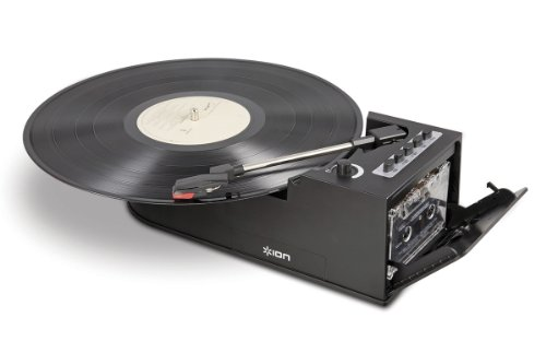 Ion IT34 Duo Deck Ultra-Portable USB Turntable with Cassette Deck (Deck Turntable compare prices)