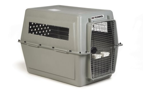 Petmate Sky Kennel For Pets From 90 To 120-Pound, Light Gray