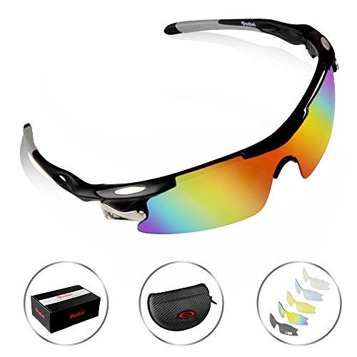 1644e4f4c5d1 POSHEI P04 Polarized UV Protection Sports Glasses for Men or Women ...