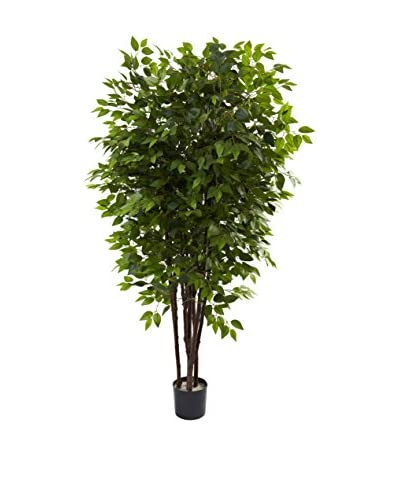 Nearly Natural Deluxe Ficus Tree, Green