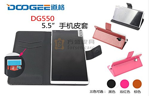 Everyday Better Life Faux Leather Flip Cover Case With Mount Stand Function For Doogee Dagger Dg550 Smartphones (Black)