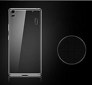 TOTTA Transparent Silicone Back Case Cover For Lenovo K3 Note- Transparent