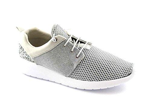 GRUNLAND GIO' ERRE SC2405 argento scarpe donna memory laccio elasticizzato 37