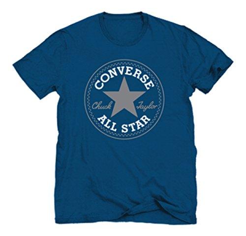 Converse AMT Core CP Crew-Maglietta da uomo, Uomo, Blu (Roadtrip Blue), M