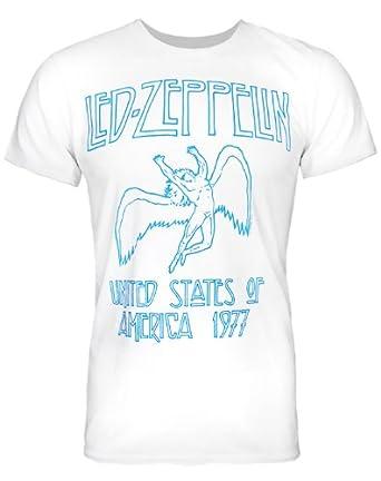 Led Zeppelin USA 1977 Herren T Shirt Schiefergrau von Amplified