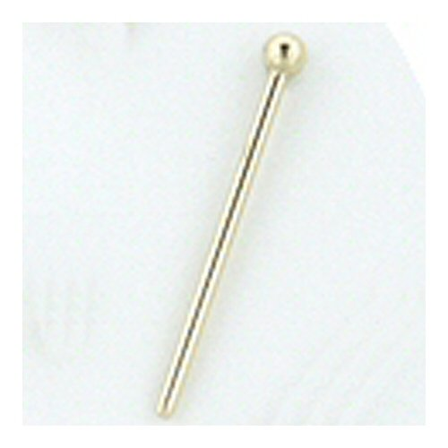 18g Straight 18k Yellow Gold Nostril Screw with 3/32
