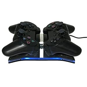 HDE Dual Charging Station Dock for 2 Sony Playstation PS3 Controllers from HDE