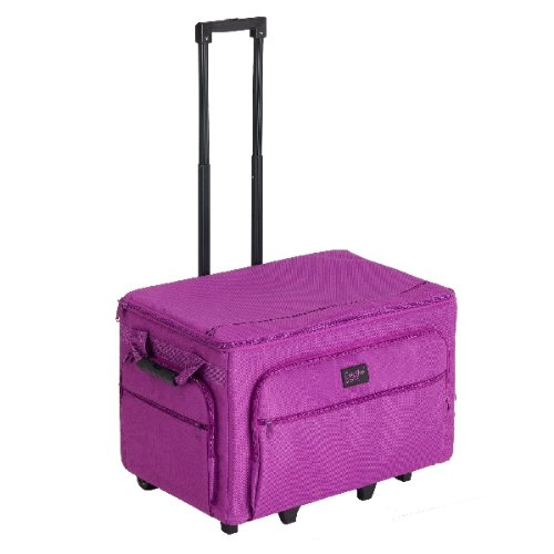 Creative Notions Xxl Sewing Machine Trolley In Purple front-496137