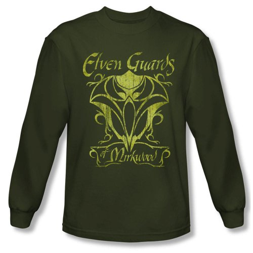 Warner Bros. Men's The Hobbit: The Desolation of Smaug Elven Guards Long Sleeve T-Shirt