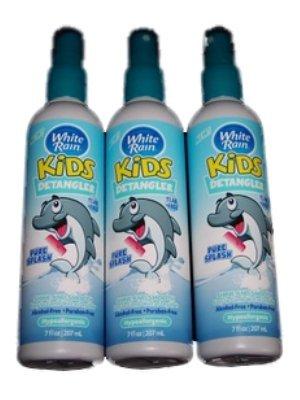 3 Pack White Rain Kids Pure Splash Sensitive Skin Shine & Smooth Detangler Bundle (Pure Rain compare prices)