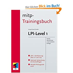 eBook Cover für  LPI Level 1 mitp Trainingsbuch