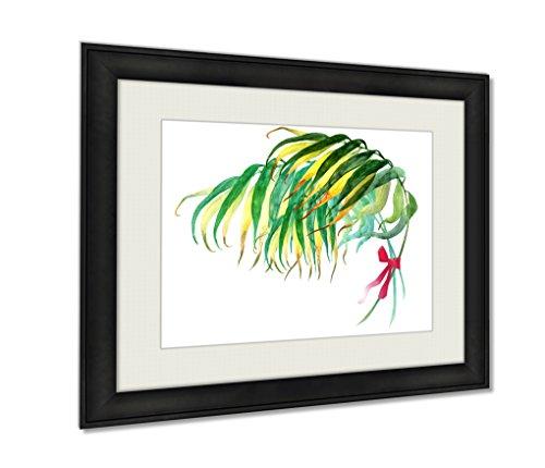 ashley-framed-prints-palm-leaf-black-wood-framed-print-16x20