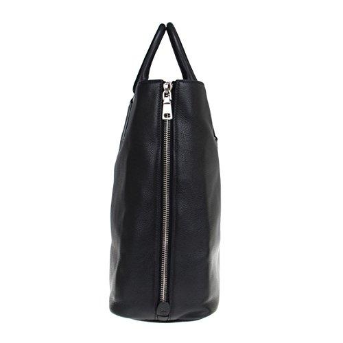 444e6cff384d Prada Vitello Phenix Black Textured Leather Shopping Tote Bag BN2419 ...