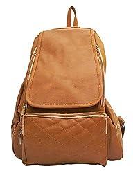 Vintage Stylish Ladies Expandable Backpacks Handbags Light Brown(bag 147)