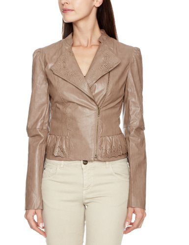 Yumi Original Cutwork Y12589 Women's Jacket Brown