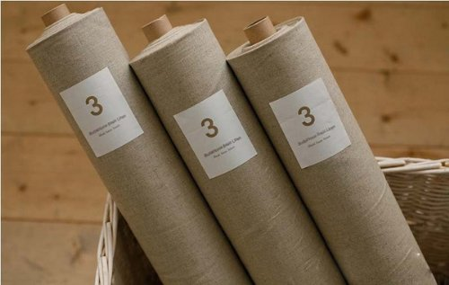 Natural Linen Fabric, Zakka Cotton/Linen, Organic Unbleached,135Cm*45Cm